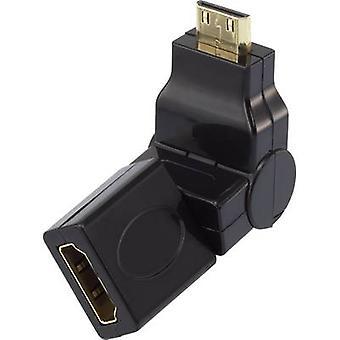 HDMI Adapter [1x HDMI plug C mini - 1x HDMI socket] Black gold plated connectors SpeaKa Professional