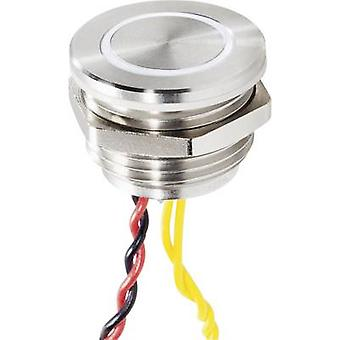 Renkforce 1227547 Bell button backlit, with piezo actuator 1x Stainless steel, White 24 V/0,3 A