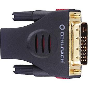 Oehlbach DVI / HDMI-Adapter [1 x DVI kontakten 19-pin - 1 HDMI uttaget] svart guldpläterade kontakter