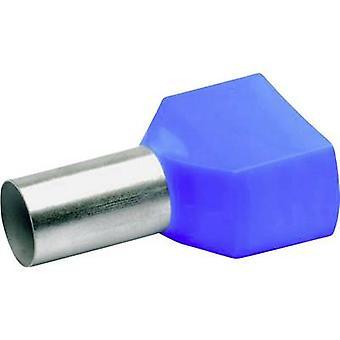 87714 Klauke Twin ferrule 2 x 16 mm² x 14 mm Partially insulated Blue 100 pc(s)