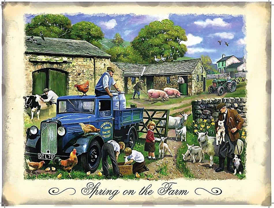 Spring On The Farm Metal Sign 200Mm X 150Mm