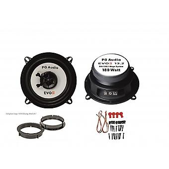 13cm coaxial, 2 voies coaxiales, bagues d'adaptation Volvo 850 intervenants porte avant incl.