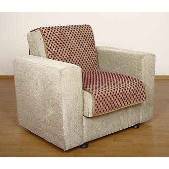 Seat saver wool beige dots 175 x 47 cm