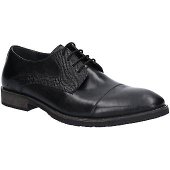 Hush Puppies Mens Derby Plain Toe Oxford Leather Shoes