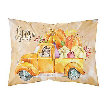 Fall Harvest Brown Parti Cocker Spaniel Fabric Standard Pillowcase