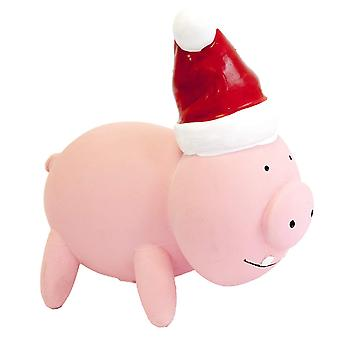 PetBrands Latex Christmas Oinking Pig Toy For Dogs