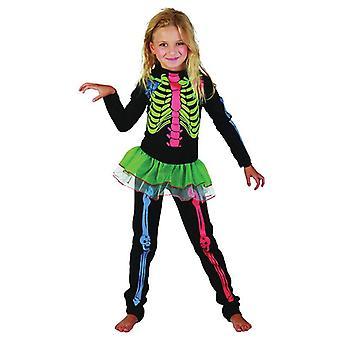 Многоцветный костей скелета Bnov девушка костюм