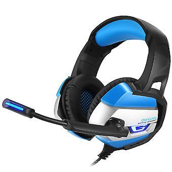 ONIKUMA K5 3,5 mm Gaming headsets til PC, Laptop, PS4, XBOX-blå