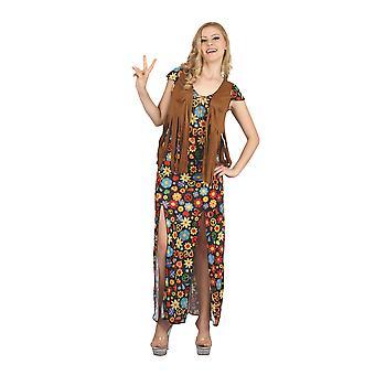 Hippie-Kleid (langes Kleid + Weste)