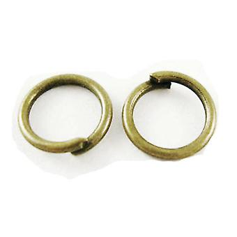 Packet 750+ Antique Bronze Plated Iron Round Open Jump Rings 0.7x5mm HA02223