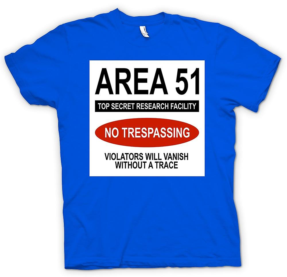 Mens t-shirt - Area 51 - UFO - Trespasser svanirà