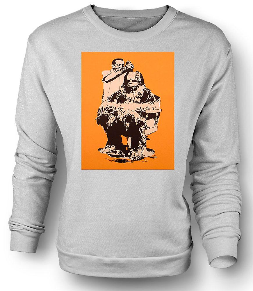 Mens klippt Sweatshirt Chewbacca - Star Wars