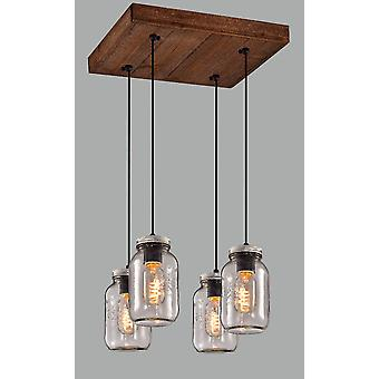 Pendant Light Glass Cluster Hanging Ceiling Light Lamp Kitchen and Dining Table Light