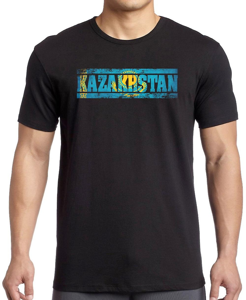Kazakhstan Flag - Words T Shirt