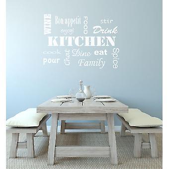 مطبخ ملصقا جدار الكلمات
