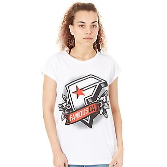 Famous Stars and Straps White CA Womens T-Shirt