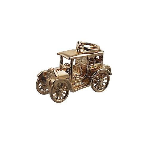 9ct Gold 11x22mm moveable Vintage car Pendant or Charm