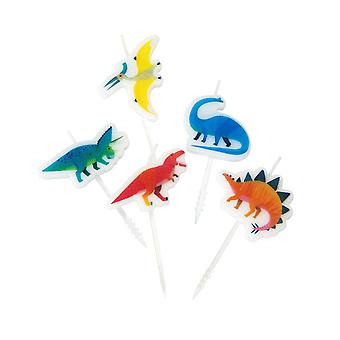 Dinosaur Birthday Party Cake Candles x 5