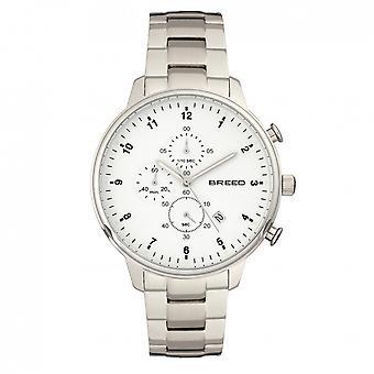 Breed Holden Chronograph Bracelet Watch w/ Date - Silver