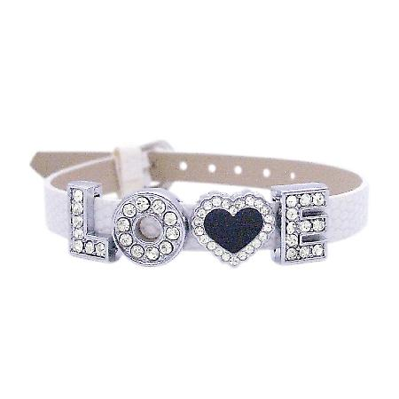 Love Jewelry Girlfriend Gift Valentine Gift Watch Strap w/ Love Word