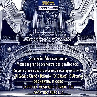 Mercadante / Ardito / Bonfitto / Donato - Messa a Grande Orch Per Quattro Voci [CD] USA import