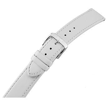 Damski zegarek pasek ze stali nierdzewnej klamra biały 22 mm skórzany