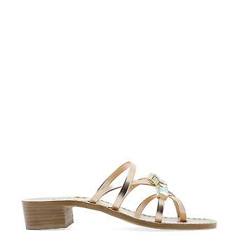 Emanuela Caruso Gold Leather Sandals