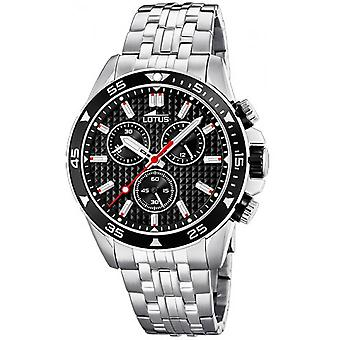 Watch CHRONO 18640-4 Lotus - steel Chrono dial black man