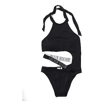 Calvin Klein Black Nylon One-piece Suit