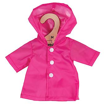 Bigjigs Toys Pink Raincoat (34cm) Clothing Outfit Dress Up