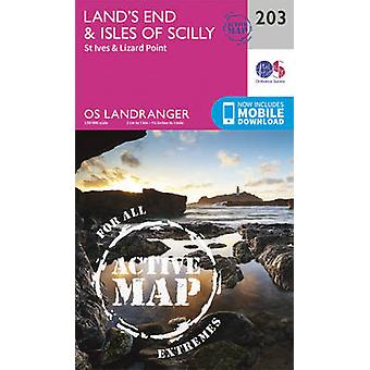 Land's End & Isles of Scilly - St Ives & Lizard Point by Ordnance Sur