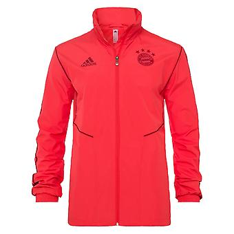 2019-2020 Bayern Munich Adidas Allweather Jacket (Red)
