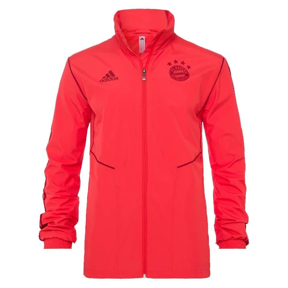 2019-2020 Bayern Munich Adidas Allweather veste (rouge)
