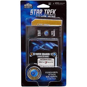 WizKids Star Trek ataque ala Federación ataque Card Pack Wave 4