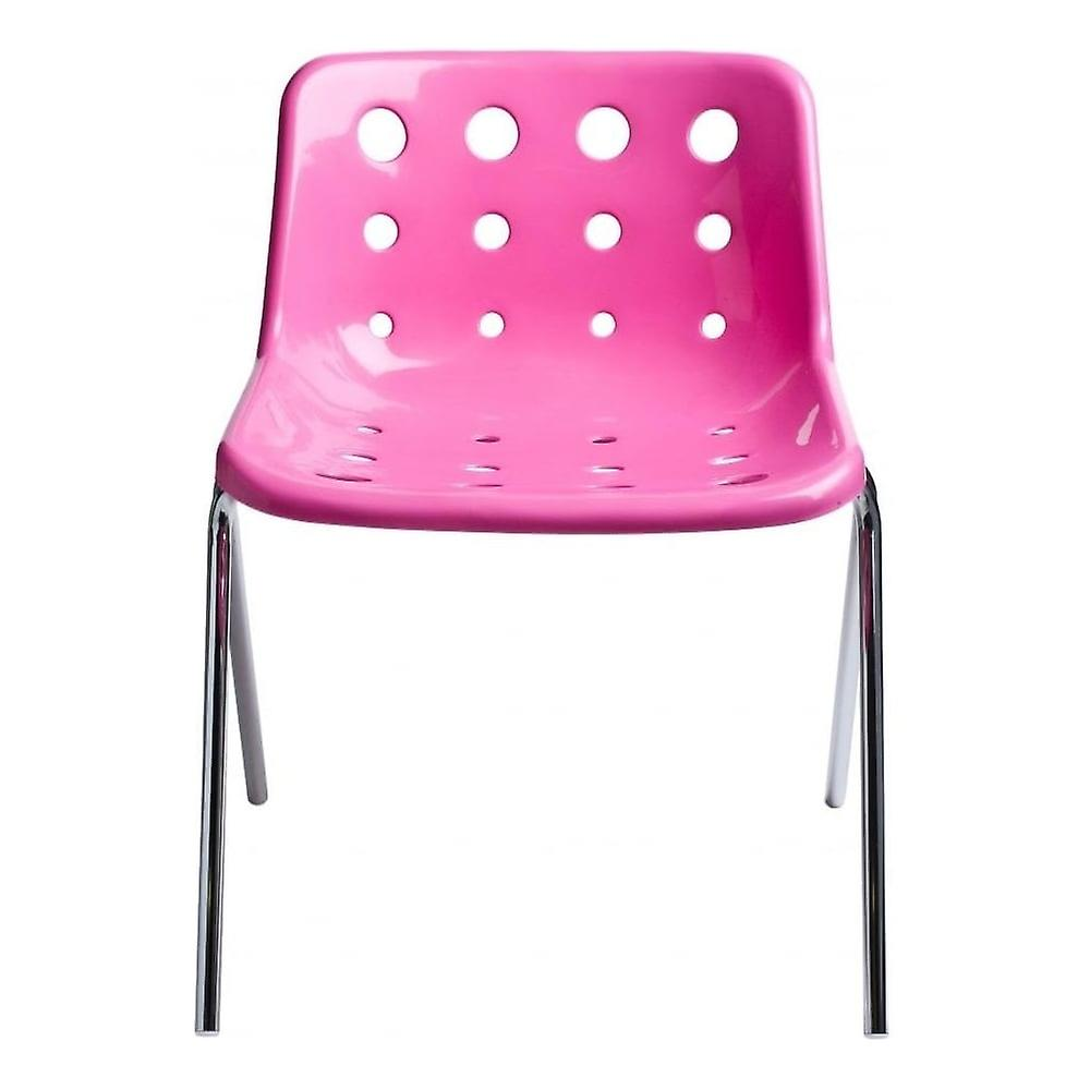 Loft Robin Day 4 Leg Bright rose Plastic Polo Chair