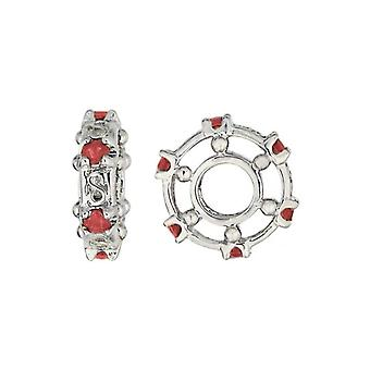 Storywheels Silver & Ruby Wheel Charm S080R