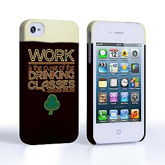 Caseflex iPhone 4 and 4S Wilde Drinking Classes Quote Hard Case - Black