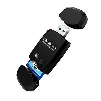 Simplecom CR303 2 Slot SuperSpeed USB 3.0 Card Reader with Dual Caps
