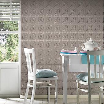 A.S. Creation AS Creation Oslo Tile Pattern Wallpaper Faux Effect Art Deco Kitchen Bathroom 329803