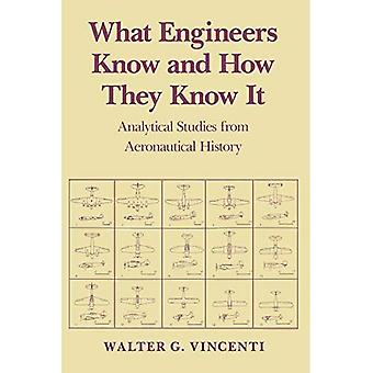 What Engineers Know and How They Know it: Analytical Studies from Aeronautical History (Johns Hopkins Studies in the History of Technology)