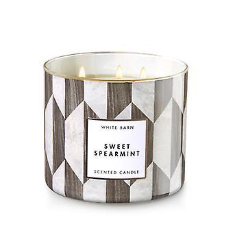 Bath & Body Works Sweet Spearmint 3 Wick Candle 14.5 oz / 411 g
