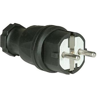 Safety plug Rubber 230 V Black IP44