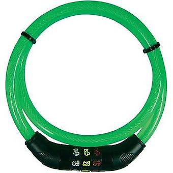 Steel cable lock Security Plus CSL80grün Green Symbol combination lock