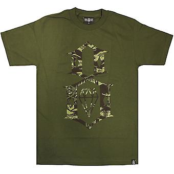 Rebel8 Fall Camo Logo T-shirt Olive