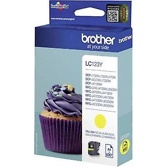 Brother Ink LC-123Y opprinnelige gule LC123Y