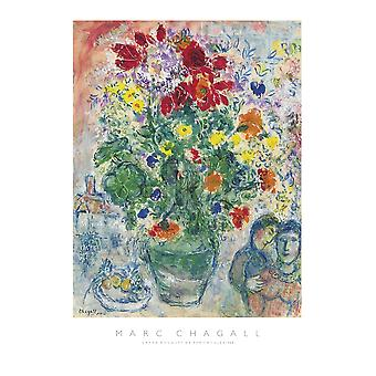Grand Bouquet de Renoncules 1968 Poster Print by Marc Chagall (20 x 27)