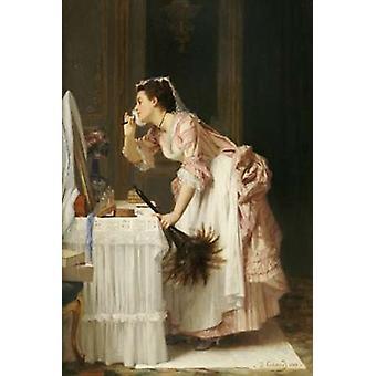 La chambre Maid Poster Print par Joseph Caraud
