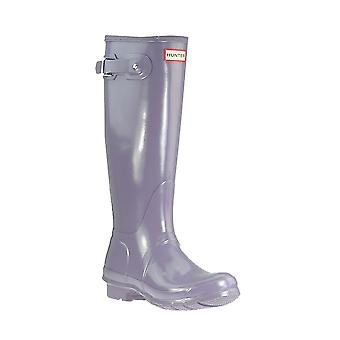 HUNTER Womens original tall gloss boots ladies wellies purple WFT1000RGL