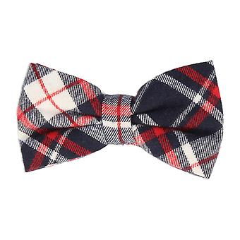 Andrews & co. fly tied bow tie grotesque Plaid Navy blue red white