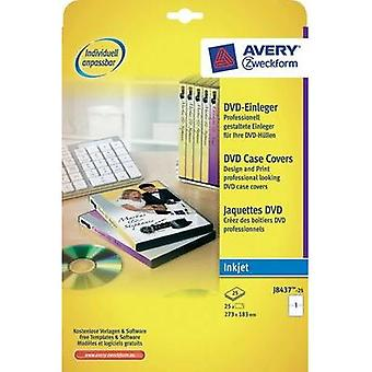 Avery DVD Case Inserts Inkjet Card Avery-Zweckform J8437-25